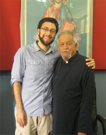 Standing with Fr. Andrés in 2012. May his memory be eternal!