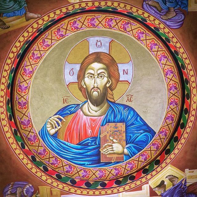 Christ the Pantocrator from the church in Nueva Concepción, #guatemala
