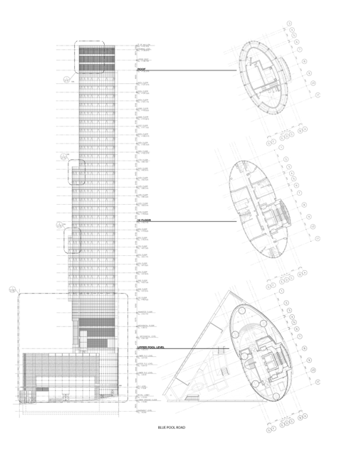 Section and plans - image credit: © SOM