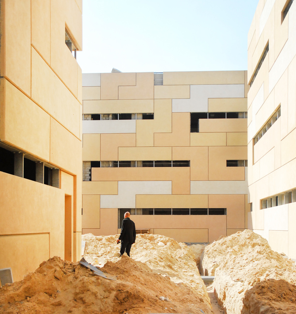 Dormitory buildings under construction - Image credit: © R. Anthony Fieldman