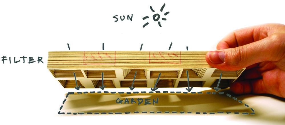 Conceptual study model - building as tent