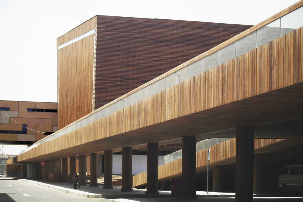 Wood-clad Library Exterior