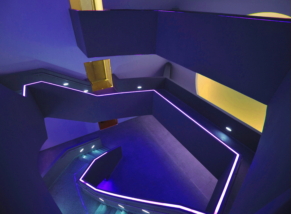 Photograph of near-complete Light Chamber No. 4 - designed in collaboration with James Turrell