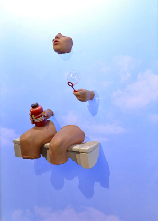 Bubbles in the Sky, Sculpture and Photograph, El Paso Museum of Art, 2010