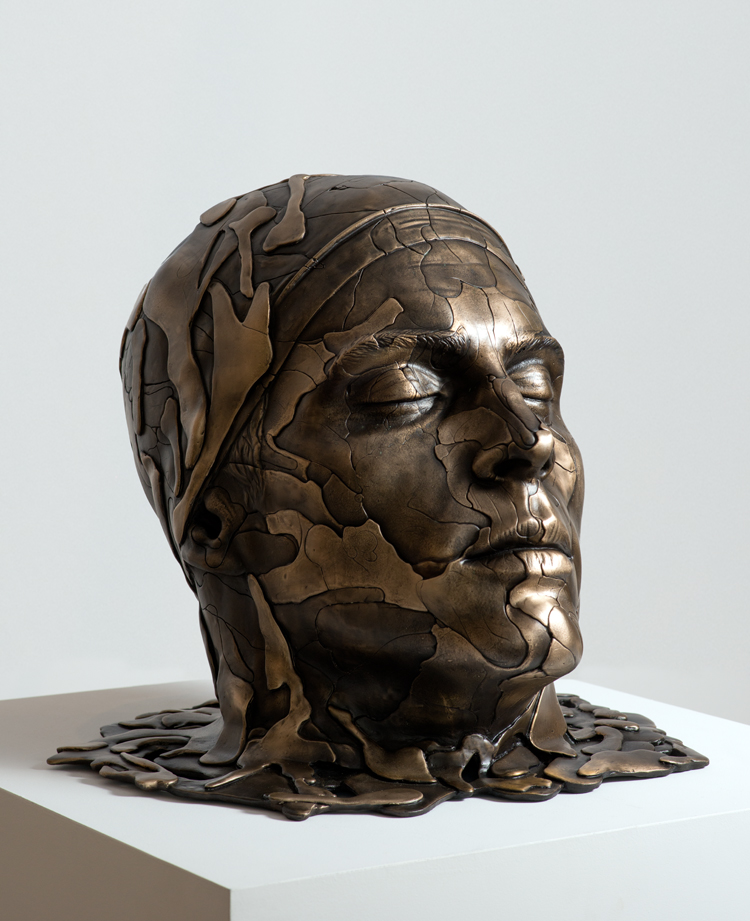 'Poseidon' , 2014- sand-cast bronze