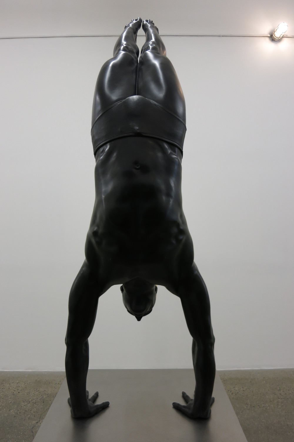 Diver  , 2011. Oil on Bronze. 77 x 25 x 11 inches.