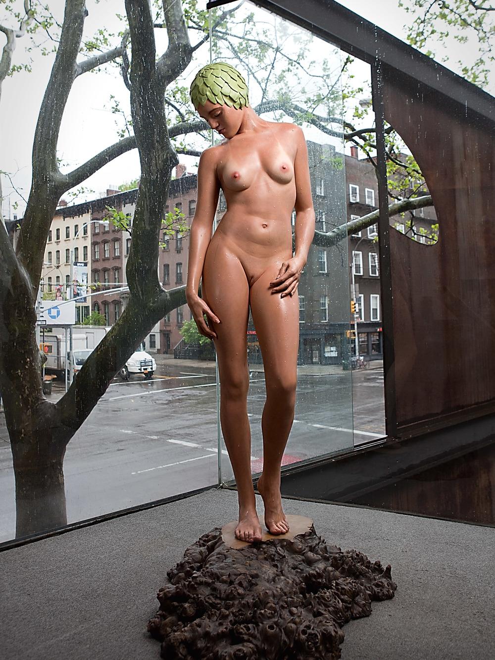 "Tree, Jim Kempner Fine Art, New York, 2013, Oil on Resin, 62"" x 37"" x 29"""