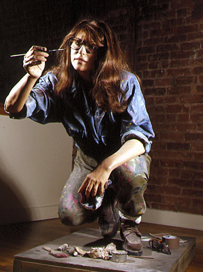 "Absolut Self Portrait, Bass Museum of Art, Miami, FL, 1989, Oil on Resin, 37"" x 23"" x 37"""