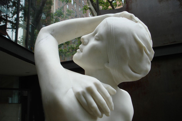 Monumental Shower, New York City, 2009. Marble, 51 x 22 x 23 ""