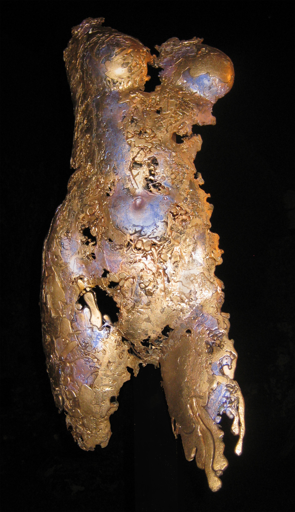 "Venus in Lace, 2003, Bronze, 31"" x 14"" x 10""."