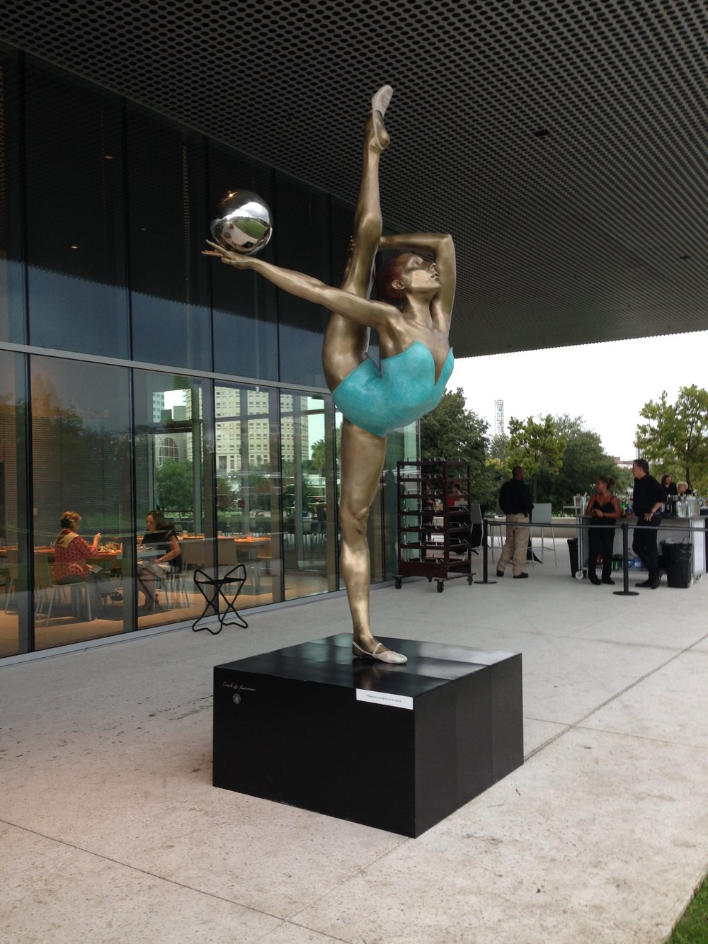 "The Dancer, 2015, The Tampa Museum, Patinated Bronze and Stainless Steel, 45"" x 18"" x 10"""