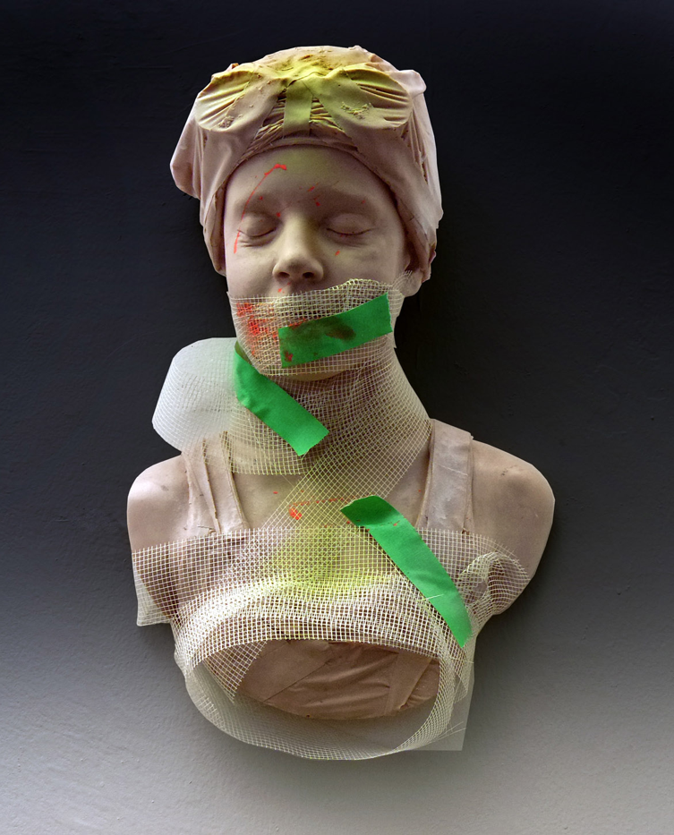 """Seen but Not Heard"", Resin, Paint & Mixed Media, by Carole Feuerman"