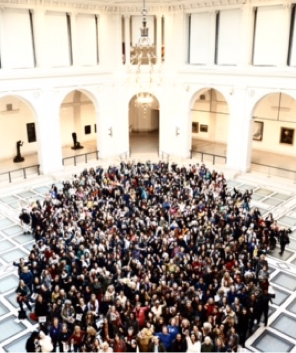 800 Women Stand Together at The Brooklyn Museum