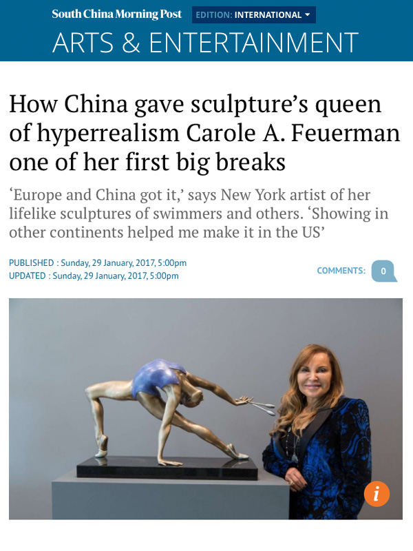 How China Gave Sculpture's Queen of Hyperrealism Carole A. Feuerman One of Her First Big Breaks