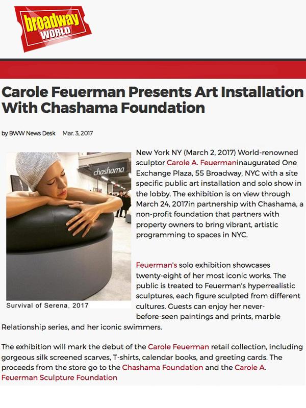 Carole Feuerman Presents Art Installation With Chashama Foundation