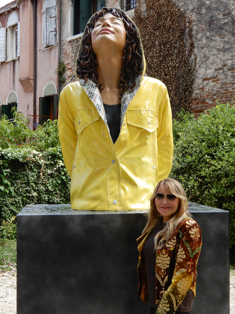 "Monumental City Slicker, Giardini Marineressa, Venice, IT, 2014, Patinated Bronze, 63"" x 35"" x 28"""