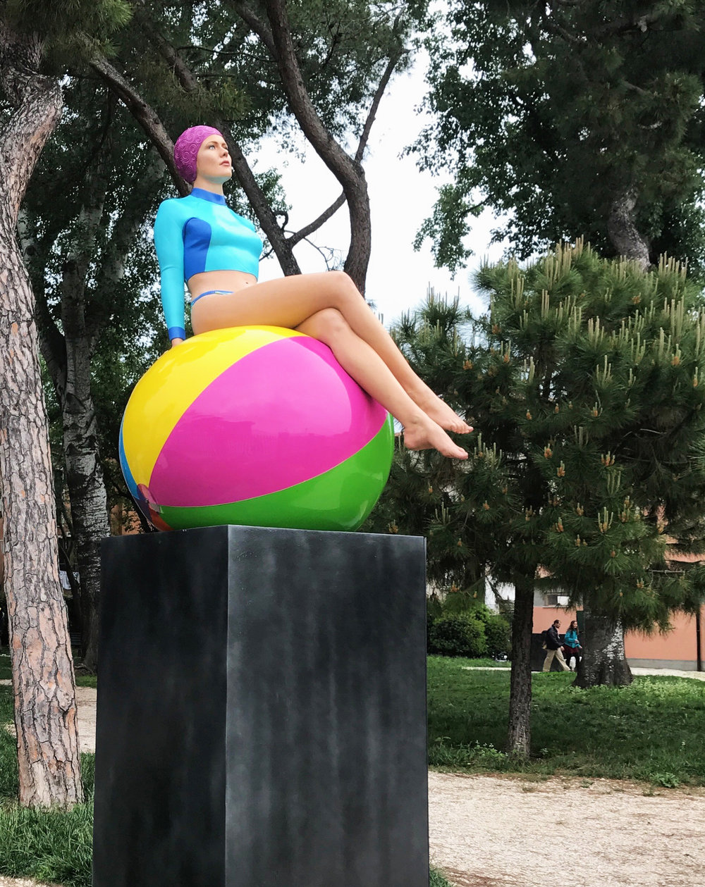 Bibi on the Ball in Venice.jpg