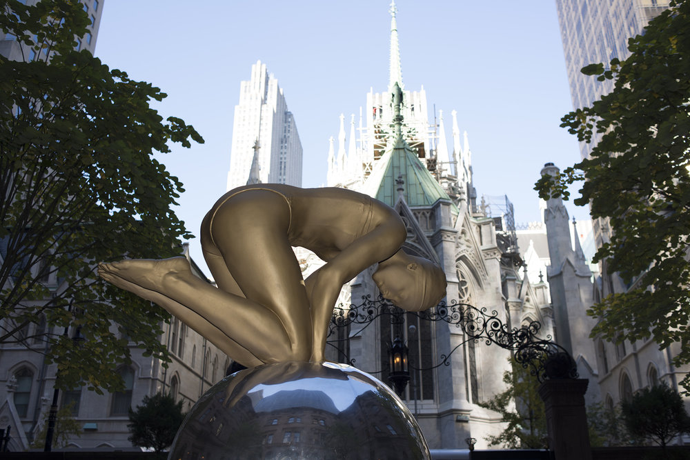 Monumental Quan, Rockefeller Center, New York, 2012, Patinated Bronze, 67 x 60 x 43 ""