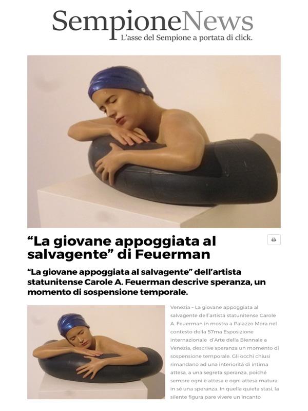 """""""La giovane appoggiata al salvagente"""" di Feuerman"""