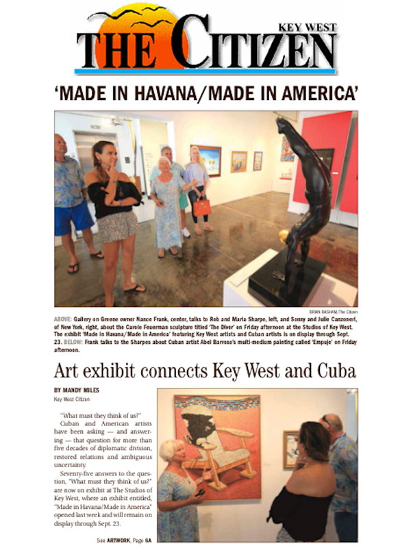 Art Exhibit connects Key West and Cuba