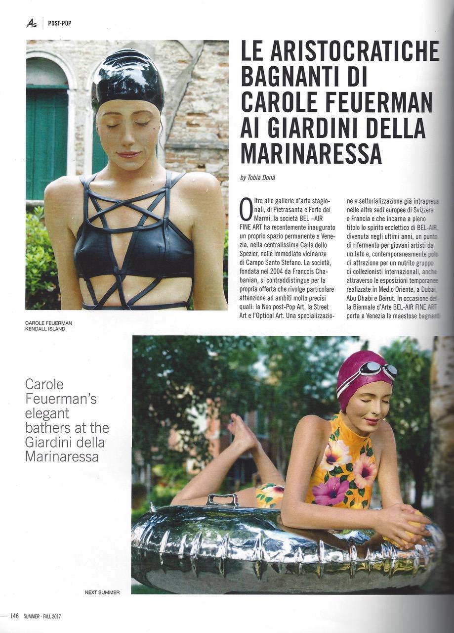 Le Aristocratiche Bagnanti di Carole Feuerman ai Giardini della Marinaressa