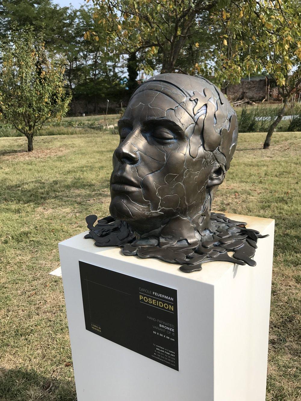 """Poseiden, 2013, Bronze, Burano, Italy, 54"""" x 56"""" x 52"""""""