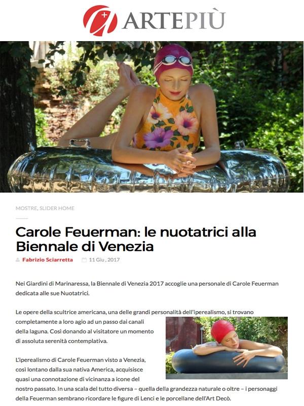Carole Feuerman: le nuotatrici alla Biennale di Venezia