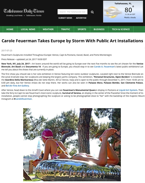 Carole Feuerman Takes Europe by Storm With Public Art Installations