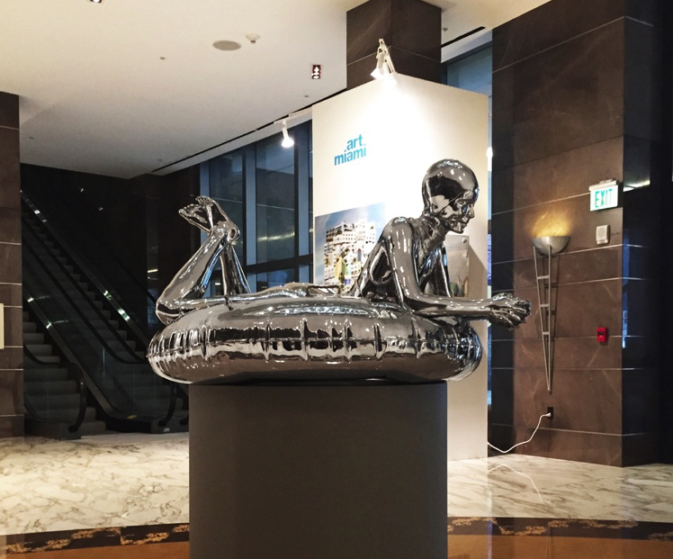Next Summer, Polished Stainless Steel, 2016, Installation at The J.R. Marriott