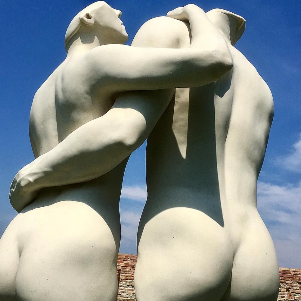 Passages Through Relationships (Unique), 1988, Marble, 49 x 34 x 19 inches