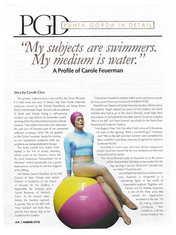 My Subjects are swimmers. My medium is water