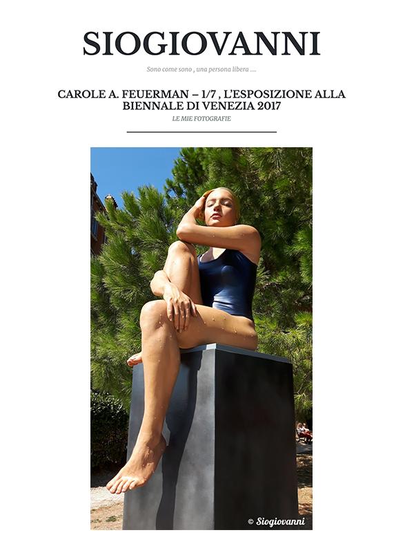 CAROLE A. FEUERMAN – 1/7 , L'ESPOSIZIONE ALLA BIENNALE DI VENEZIA 2017