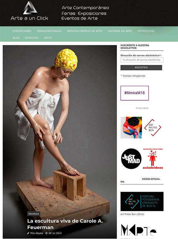 La escultura viva de Carole A. Feuerman