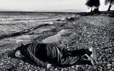 Ai Weiwei Posed as Alan Kurdi, photo taken by Rohit Chawla for India Today, January 2016.