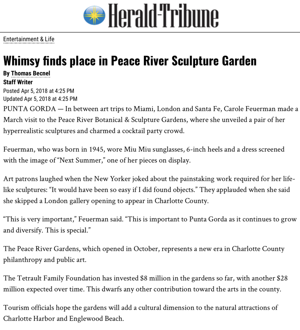Whimsy Finds Place in Peace River Sculpture Garden