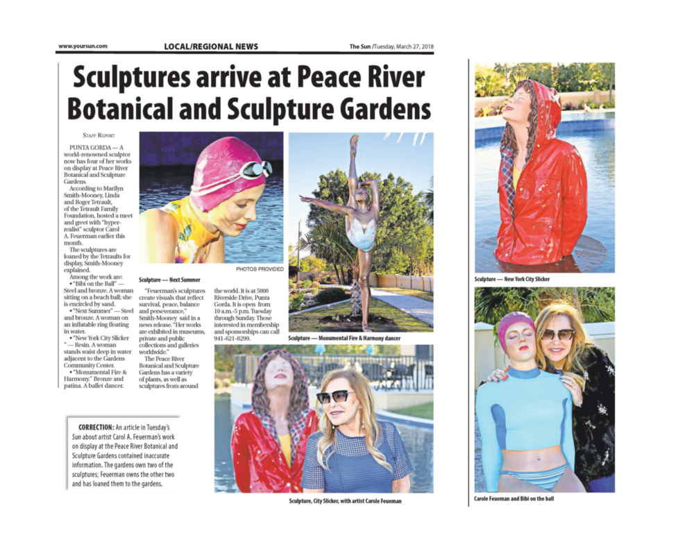 Sculptures Arrive at Peace River Botanical and Sculpture Gardens