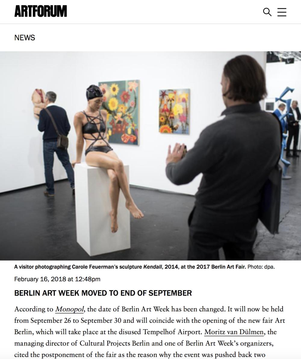Berlin Art Week Moved to End of September
