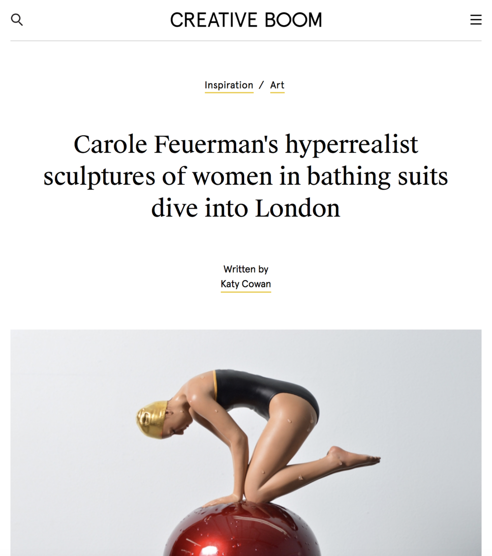 Carole Feuerman's Hyperrealist Sculptures of Women in Bathing Suits Dive Into London