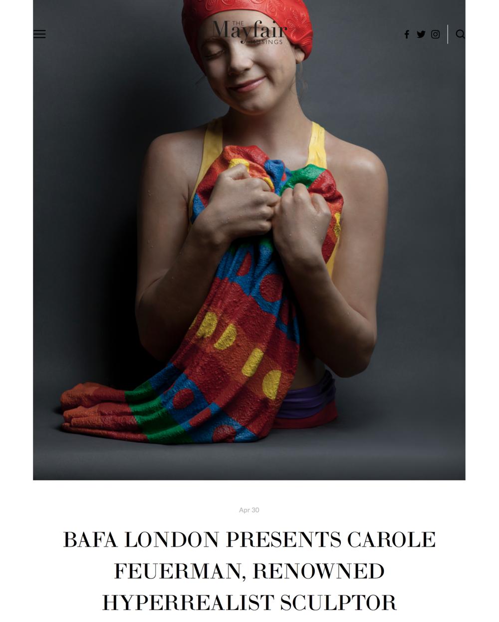 BAFA London Presents Carole Feuerman, Renowned Hyperrealist Sculptor