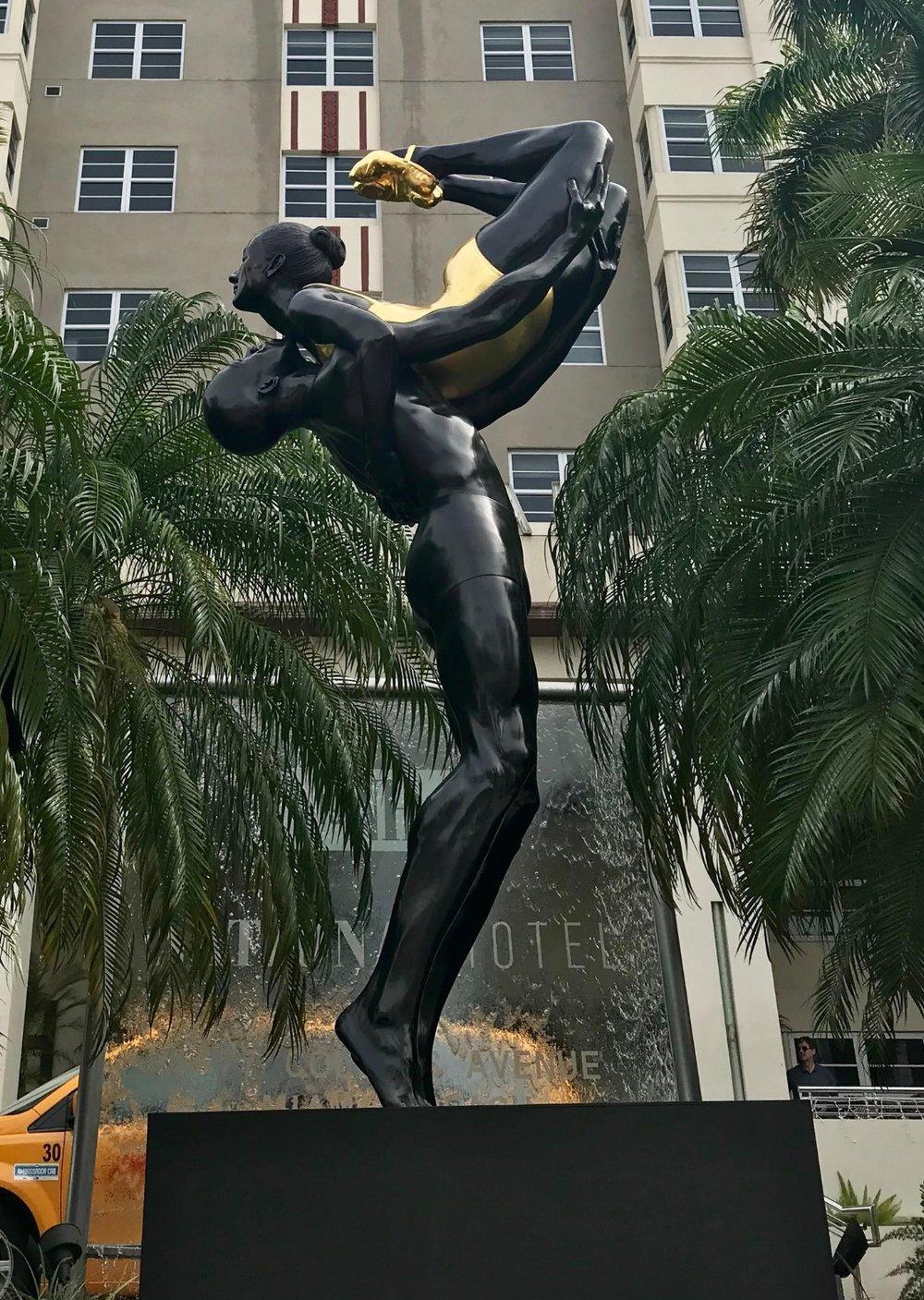 Strength , 2017, Bronze, 144 H x 48 W x 48 D inches