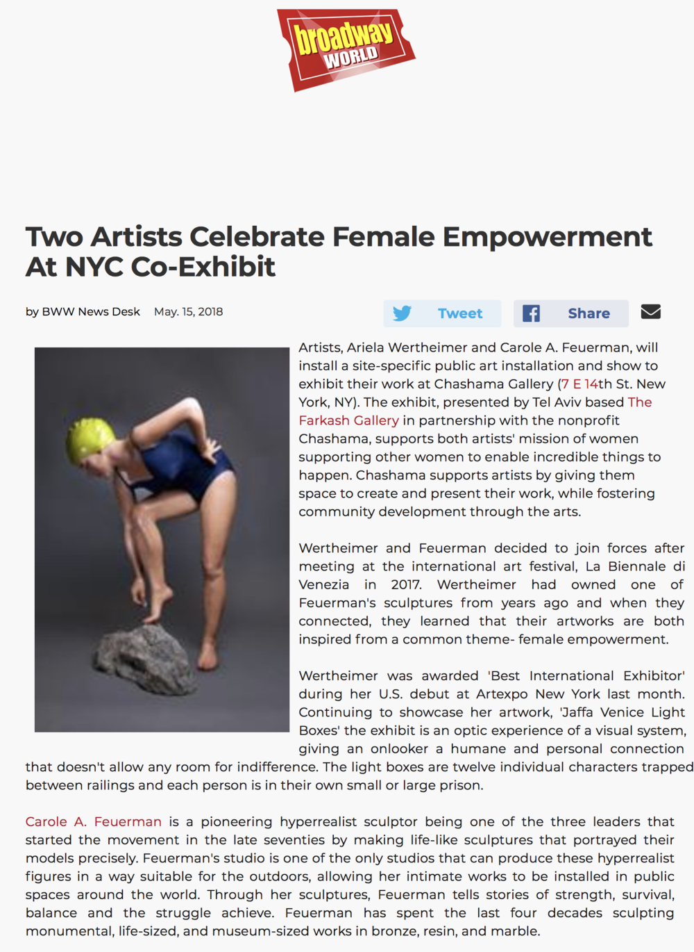 Two Artists Celebrate Female Empowerment At NYC Co-Exhibit
