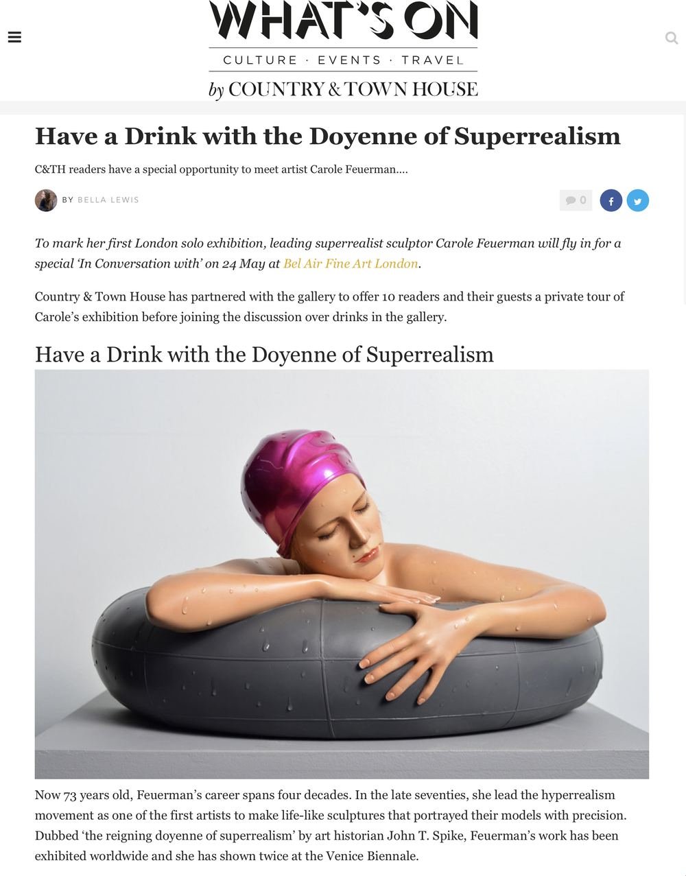Have a Drink with the Doyenne of Superrealism