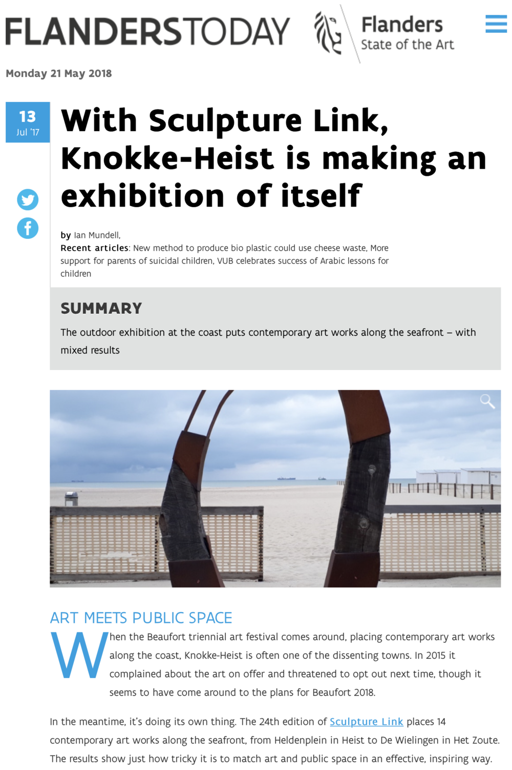 With Sculpture Link, Knokke-Heist is Making an Exhibition of Itself