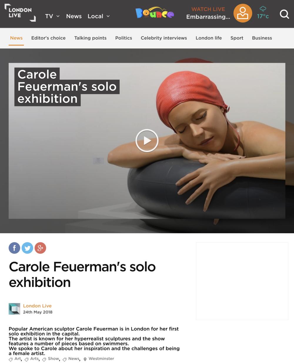 Carole Feuerman's Solo Exhibition
