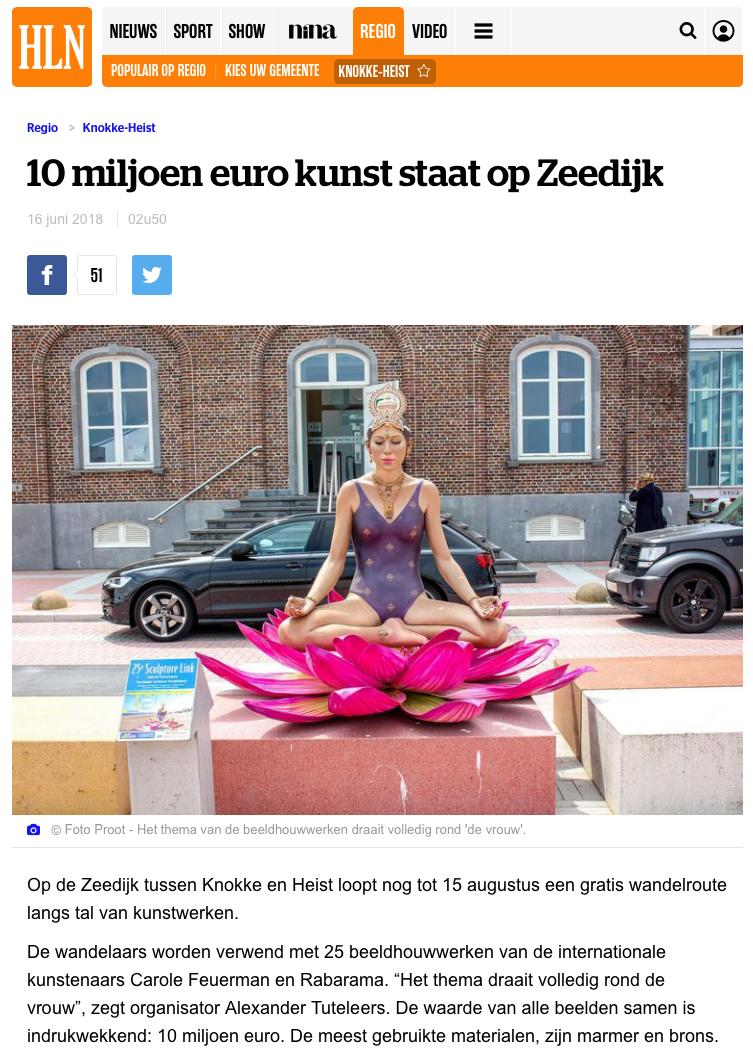 10 miljoen euro kunst staat op Zeedijk