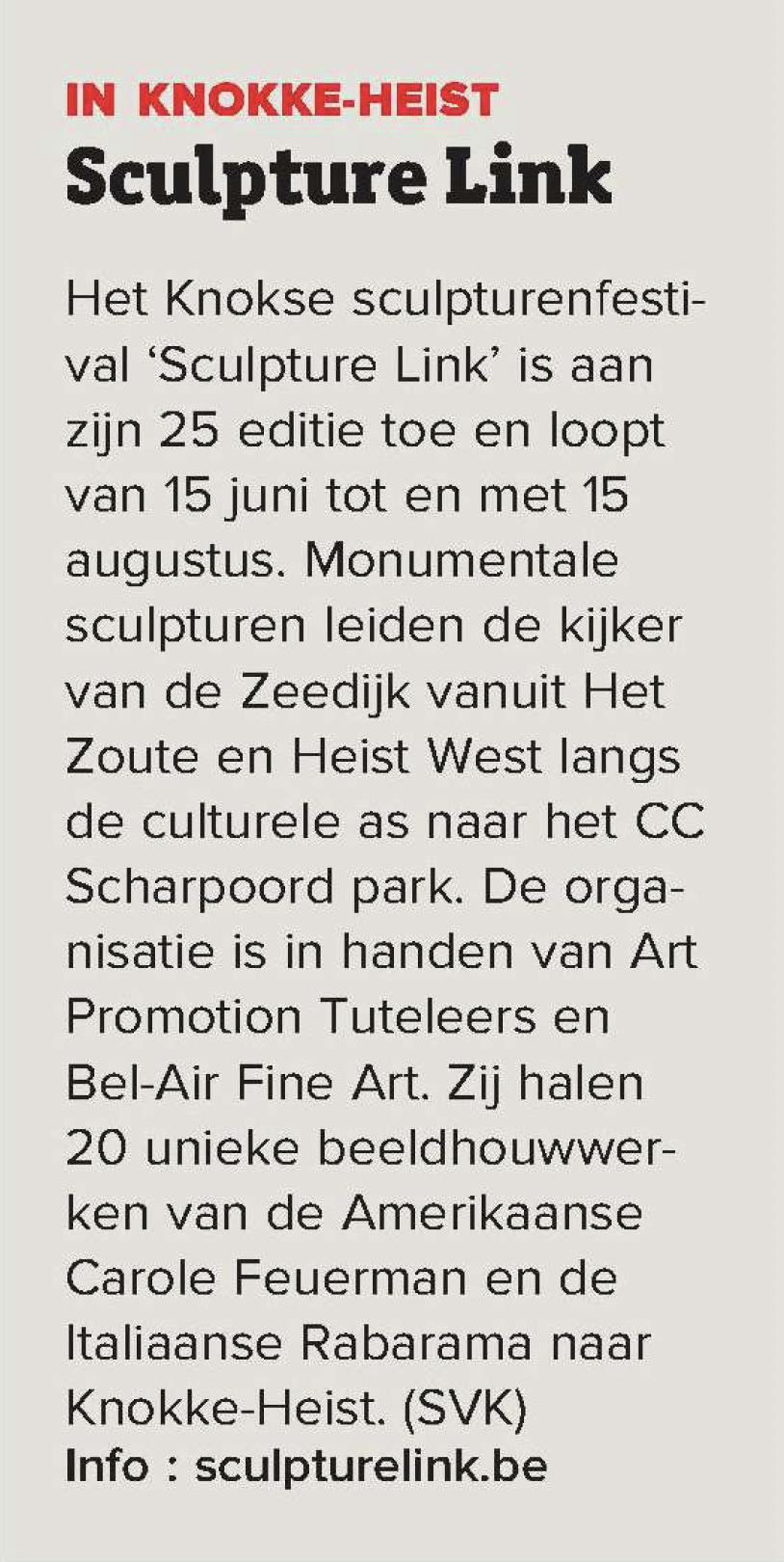 In Knokke-Heist Sculpture Link
