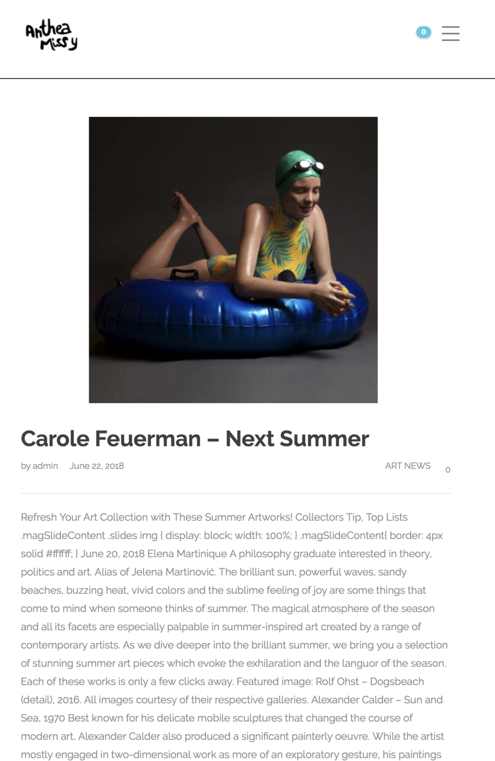 Carole Feuerman - Next Summer