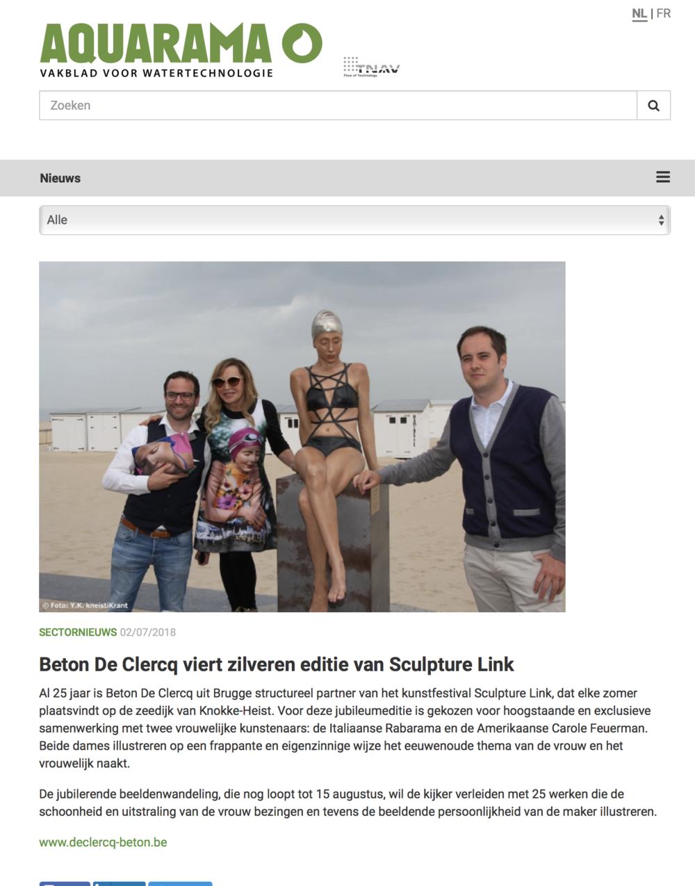 Beton De Clercq viert zilveren editie van Sculpture Link