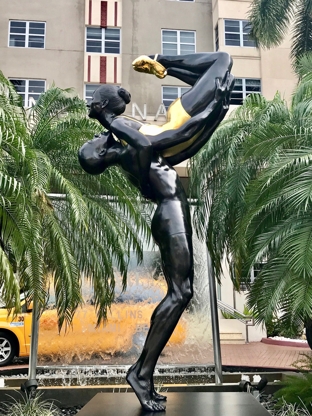 "Strength, 2017, Bronze, National Hotel, Miami, FL, 144"" x 48"" x 48"""