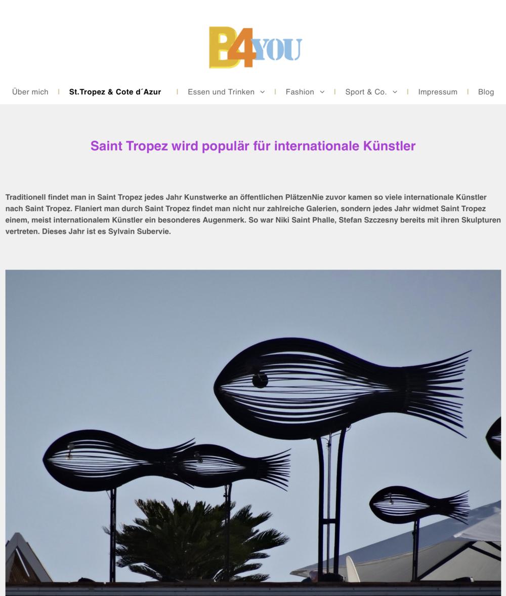 Saint Tropez wird populär für internationale Künstler